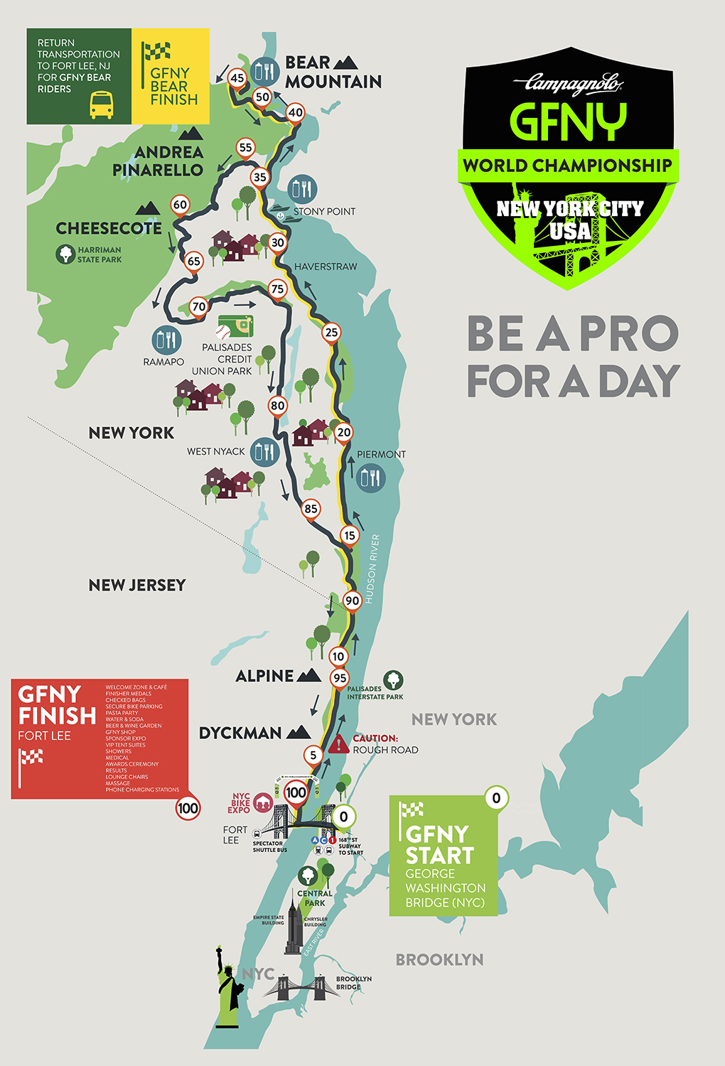 Course – GFNY World Championship New York City | GFNY Cycling